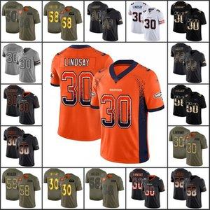 """Denver""""Broncos""""Men #30 Phillip Lindsay 58 Von Miller Women Youth Limited Jersey"""