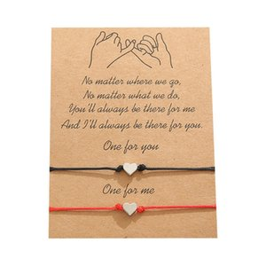 Wunsch Armband mit Geschenkkarten Frauen Herz Freundschaft Armbänder für Frauen Freundschaft Grußkarten Schmuck Geschenk 150 W2