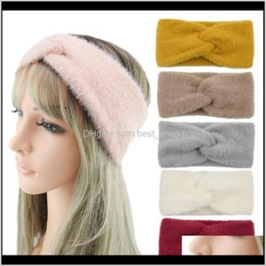 7 Colors Plush Headband Women Winter Sports Hairband Turban Yoga Head Band Ear Muffs Beanie Cap Headbands Party Favor Yya535 7Rrlr Ns3Kw