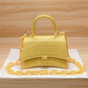 2021 Luxurys Famous Designers Womens Shoulder Bag Fashion Toiletry Alligator Gold-color Hourglass Handbags Chain Cosmetic Handbag Purse Crossbody Bags Crocodile