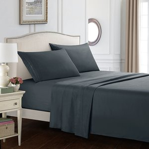 (No Duvet Cover)Bed Sheet with Pillowcase 4pcs Mattress Covers Fitted Sheet Sets with Elastic for King Size Bedding Sheet Sets