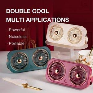 Ventilateur portable refroidisseur à la main USB rechargeable 5V volt voyage extérieur debout silencieux petits ventilateurs électriques de refroidissement aérien silencieux