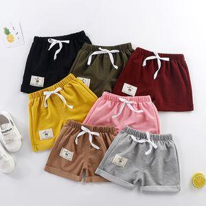 Melario Baby Girls Boys Casual Cool Shorts Summer Kids Baby Cartoon Elastic Pants Children Active Clothing 1-5 Years 210412