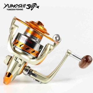 Yumoshi metal girando bobinas de pesca ef1000-7000 12bb mosca roda de pesca carretel ferramenta acessórios l0331
