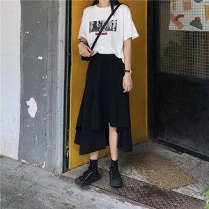 Short skirt high waist A-line in summer