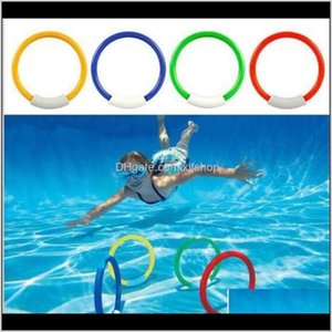 Outdoor Games Activities 4Pcsset Swimming Rings Diving Toy Pool Dive Ring Kid Children Water Game Swimways Interesting Underwater Spor Zye5S