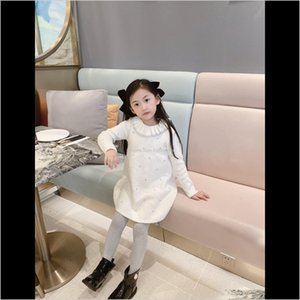 Pullover Sweaters Clothing Baby, Kids & Maternity Drop Delivery 2021 Long Sleeve Sweater Dress Girls Princess Baby Sweet Tutu Party Dresses C