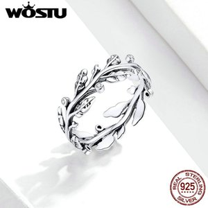 Cluster Rings WOSTU 925 Sterling Silver Little Daisy Finger For Women Vintage Retro Stackable Band Fine Jewelry FIR670