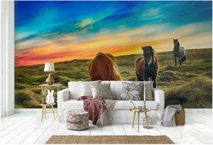 Custom Mural 3d Po Wallpaper Mongolian Horse Fodder Vast Grassland Home Decor Living Room For Wall 3 D On The Wallpapers