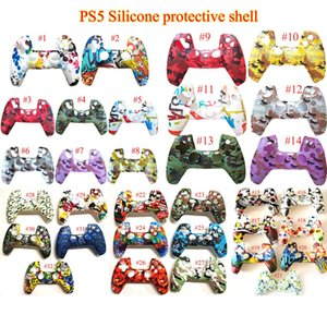 Game Controller Skin Soft Gel Silicone Protective Cover Rubber Grip Case for PS5 Playstation 32 Color In Stock