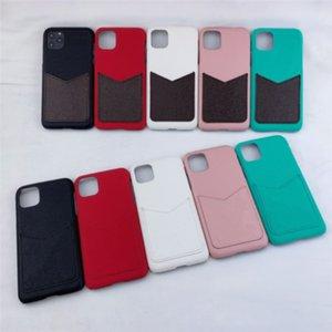 Дизайнер Цветочный узор Чехлы для телефона для iPhone 12 11 Pro Max XS XR XSMAX 7 8 плюс Кожаный Держатель роскошной карты Pocket DHL