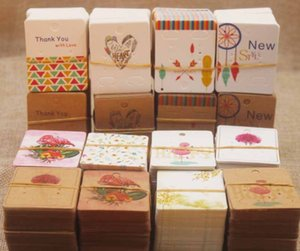 2021 Color printed earring card Paper 5 * 4cm handmade jewelry packaging cards