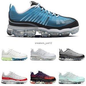 360 Erkek Kadın Koşu Ayakkabıları Lazer Mavi Kabarcık Paketi Beyaz Metalik Gümüş Foton Toz Erkek Trainer Açık Sneakers Boyutu 36-45