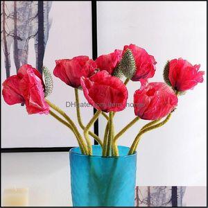 Decorative Festive Party Supplies Gardendecorative Flowers & Wreaths Artificial Flower Poppy Fake Home El Restaurant Office Bedroom Decorati