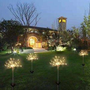 태양 불꽃 놀이 조명 120 LED 문자열 램프 방수 야외 정원 조명 잔디 램프 크리스마스 파티 장식 조명
