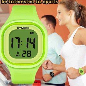 SYNOKE Women Digital Fashion Waterproof Luminous Chronograph Students Electronic Watches Girls Gifts Relogio Feminino