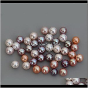 Loose Drop Delivery 2021 67Mm Near Round Fresh Water Pearl Beads Cultured Diy Jewelry Making Wedding Gift Olb0Y