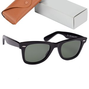 Top Quality 2140 Sunglasses Men Women Real Galss Lenses Acetate Frame Mens Sun Glasses Oculos De Sol