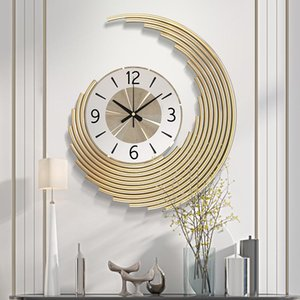 Gold Big Creative Wall Clocks Living Room Modern Simple Home Art Decorative Reloj De Pared Moderno Decor W6C