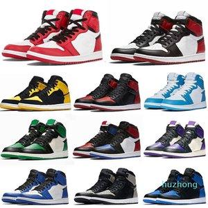 أحذية عالية الصنوبر الأخضر الأسود المحكمة الأرجواني الملكي bred toe سبج لعبة أحذية رياضية