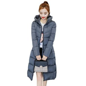 Women's Trench Coats Casual Fashion Woman Long Winter And Jackets Solid Slim Padded Parka Thick Full Sleeve Hooded Parkas Mujer 2021