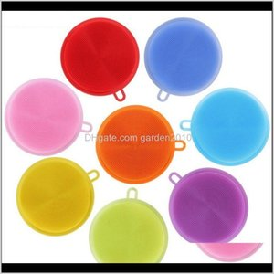 Sponges & Pads Multifunction Kitchen Pot Cleaner Washing Tool Bowl Cleaning Brushes Sile Scouring Pad Dish Sponge 3Bqjd T5Mwv