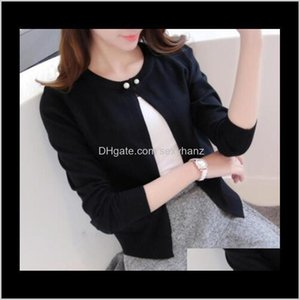 Knits Tops & Tees Womens Clothing Apparel Drop Delivery 2021 Spring Autumn Cardigan Dress Sunscreen Shawl Thin Coat A Long Sleeved Sweater Gi