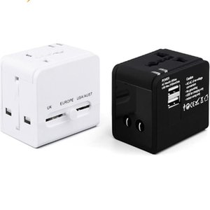 Portable Multi-function Dual USB Ports Global Universal Travel Wall Charger Power Socket for Smartphone Rechargeable