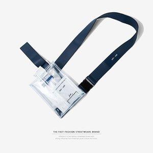 Fashion Fanny Pack Men Clear PVC Transparent Belt Bag Hip Hop Kanye West Streetwear Wasit Bag Transparent Package Chest Bags C0406