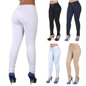 Casual High Waist Jeans Pantaloni Stretch Pantaloni Stretch Skinny Donne Denim Matita Donne Capris Donne