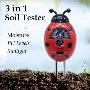 Portable 3 In 1Soil PH Meter Soil Moisture Light Measurement Fruits Flowers Vegetables Shrubs Test Instrument Meters