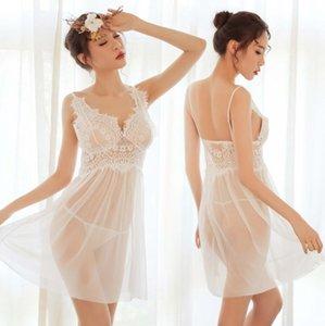 Sexy Dessous Lace Mesh Damen Anzug Nachthemd Französisch Romantische Stretch Dame Flitterwochen Nachtwäsche Nachtkleider
