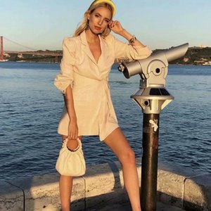 Spring Arrivals Solid Long Sleeve Lace Up Plaid Coat Women Slim BlazWomen's Suits & Blazers