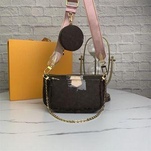 Original Box Designers bags Favorite Handbags Multi Pochette Accessoires Purses Flower Pochette 3pcs Crossbody Bag Shoulder Bags