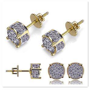 Designer Earrings Luxury Jewelry Fashion Women Mens Earrings Hip Hop Diamond Stud Earings Iced Out Bling CZ Rock Punk Wedding Gift 341 Q2