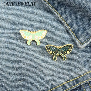 Pins, Brooches Moth Brooch Moon Phase Enamel Pins Day And Night Badges Animal Buterfly Women Jewelry Gifts For Nature Lover