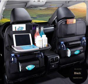 Аксессуары для автомобилей интерьер 1 шт. PU кожаное автомобильное сиденье заднее хранение висит мешок многофункциональный iPad мини держатель универсальный органайзер заднего сиденья для хранения детей