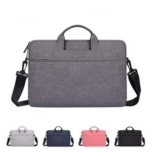 Men Briefcase Women Shoulder Waterproof Notebook Messenger Laptop Sleeve Bag 2020 Q0112