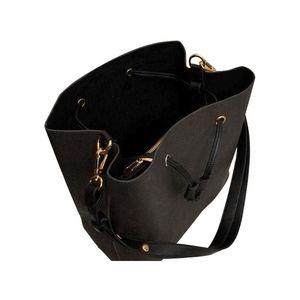Fashion shoulder bag Drawstring women Designer Famous classic Tote for lady handbags quality genuine leather bucket handbag NEONOE presbyopic shopping bags