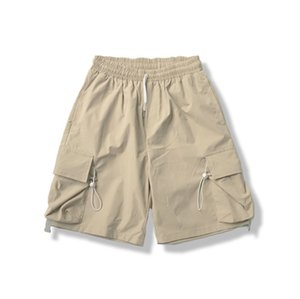 Couleur solide Casual Cool Courts Gyms Fitness Sportswear Mâle Formation Formation rapide Sèche Pantalons Hommes Summer Summer