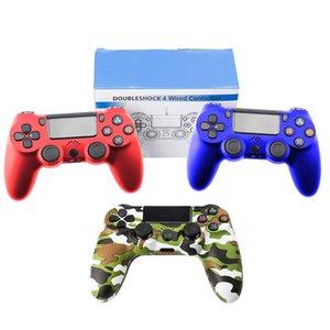 Gamepad com fio para PlayStation Sony PS4 Controlador Joystick Joypad Controle para Doubleshock Vibration Joystick para Play Station 4