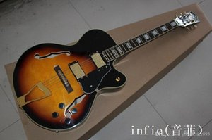 Top Quality new wholesale L5 custom golden hollow jazz electric guitar