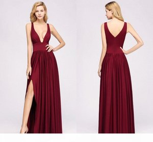 Real Pictures Burgundy A-line Bridesmaid Dresses Cheap Spaghetti Open Back Wedding Guest Gown Long Formal Party Evening Prom Dresses BM0141