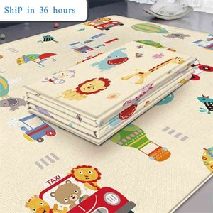 Non-Toxic Foldable Baby Play Mat Educational Children's Carpet in the Nursery Climbing Pad Kids Rug Activitys Games Toys 180*100 210915