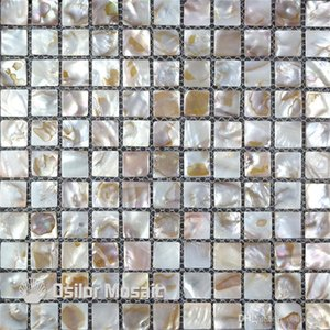 Natural Dapple Color 100 %Chinese Freshwater Shell Mother Of Pearl Mosaic Tile For Interior House Decoration Tiles Square Style