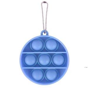 DHL Round Pop It Fidget Toys Pinde Sensory Push Bubble Board Board juego Juguete Charms Ansiedad Estrés Reliado Niños Adultos HWF6469
