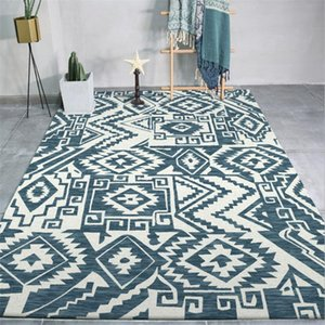 Carpets Area Rug For Bedroom Nordic Abstract Geometric Pattern Thickened Carpet Living Room 100% Polyester Floor Mats