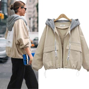 New 2019 Autumn Winter Trench Coat Women Clothes Solid Color Hooded Short Windbreaker Coats plus size