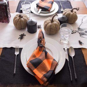2pcs European Style Simple Water Wash Cloth Napkins Multi Color Plaid Cotton Meal Mat Food Table Napkin