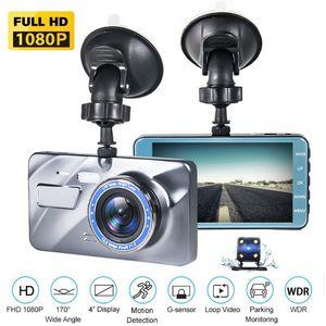 Full HD 1080P Car Dvr Camera Auto 4 Inch Mirror Digital Video Recorder Dual Lens Registratory Camcorder 2.5D Glass Dash Cam DVRs